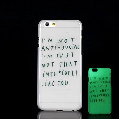 Πίσω Κάλυμμα - Ειδικό Σχέδιο/Πρωτότυπη/Φωσφορίζει στο Σκοτάδι - για iPhone 6 Plus Πλαστικό)