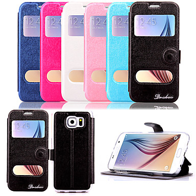 5.1 inch windows patroon pu portemonnee lederen case voor de Samsung Galaxy s6 g9200