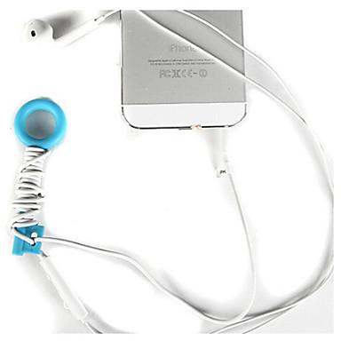 iphone 8 için kulaklık hattı sarma aygıtı standı 7 samsung galaxy s8 s7& telefonlar (rasgele renkler)