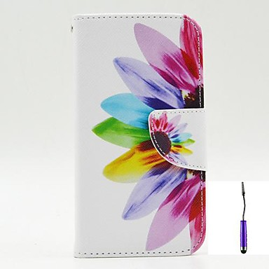 hoesje Voor Nokia Lumia 630 Nokia Nokia hoesje Portemonnee Kaarthouder met standaard Volledige behuizing Bloem Hard PU-nahka voor