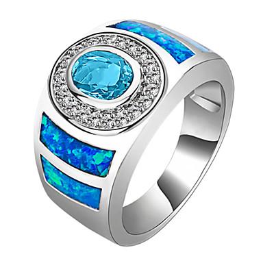 Dames Statement Ring Lichtblauw Synthetische Edelstenen Zirkonia Bruiloft Feest Dagelijks Causaal Sport Kostuum juwelen