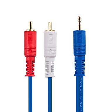 Cep telefonu / araç / aile vb ses donanımları için 2 rca erkek ses kablosu jsj® 1m 3.28ft 3.5mm stereo erkek