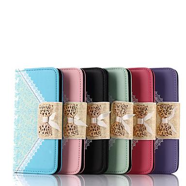 Capinha Para Samsung Galaxy Samsung Galaxy Capinhas Porta-Cartão Flip Capa Proteção Completa Côr Sólida PU Leather para S6