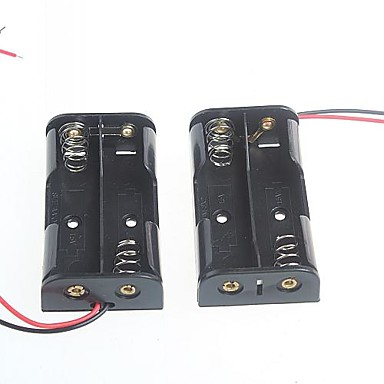 2 verpakkingen de 5e accubak accubak voor AA-batterijen 3V (2 stuks)