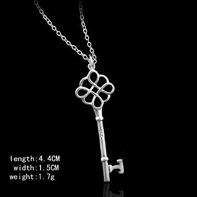 pendents ασημένιο κλειδί pendents σχήμα των γυναικών