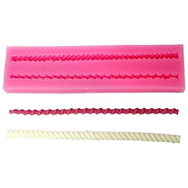 quatro c moldes projeto do bolo molde de estampagem de silicone 3d cor-de-rosa