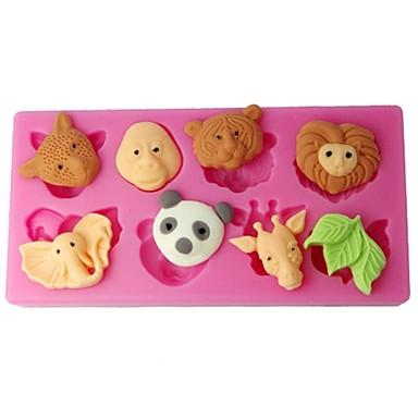 four-c cupcake mallen bosdieren Suikerpasta mallen kleur roze