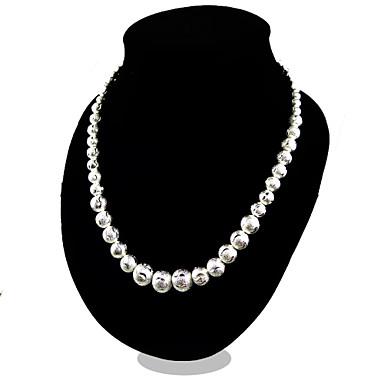 Kadın's Zincir Kolyeler - Som Gümüş Moda Gümüş Kolyeler Mücevher Uyumluluk Parti, Günlük