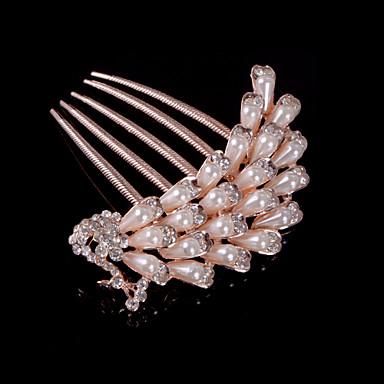 Κρύσταλλο Ύφασμα Κράμα Τιάρες Κομμάτια μαλλιών 1 Γάμου Ειδική Περίσταση Πάρτι / Βράδυ Causal Headpiece