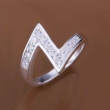 Γυναικεία Δακτύλιος Δήλωσης Πολυτέλεια Ασήμι Στερλίνας Ζιρκονίτης Cubic Zirconia Προσομειωμένο διαμάντι Κοστούμια Κοσμήματα Γάμου Πάρτι