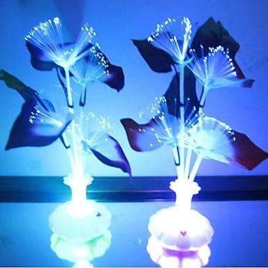 LED Night Light Impermeável Bateria Acrílico 1 Luz Baterias Não Incluídas 11.0*11.0*29.0cm