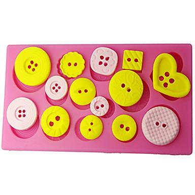 goma de ferramentas pasta de decoração do bolo botão do molde de decoração