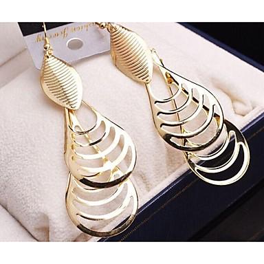Σκουλαρίκι Κρεμαστά Σκουλαρίκια Κοσμήματα 1set Γάμου / Πάρτι / Καθημερινά / Causal / Αθλητικά Επιχρυσωμένο Γυναικεία