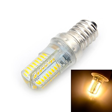 E14 LED Λάμπες Καλαμπόκι T 64 leds SMD 3014 Θερμό Λευκό 500-600lm 3000K AC 220-240V