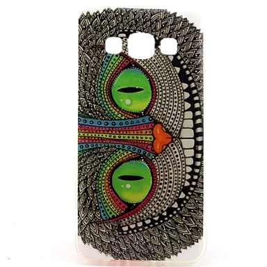 Voor Samsung Galaxy hoesje Hoesje cover Patroon Achterkantje hoesje Kat TPU voor Samsung Galaxy A3