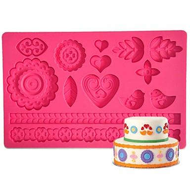 four-c gumpaste schimmel taart ontwerp schimmel, cake levert fondant mat suikerpasta mat cake gereedschappen kleur roze