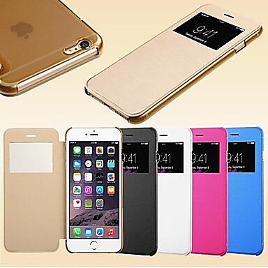tok Για Apple iPhone 6 iPhone 6 Plus με παράθυρο Ανοιγόμενη Πλήρης Θήκη Συμπαγές Χρώμα Σκληρή PU δέρμα για iPhone 6s Plus iPhone 6s