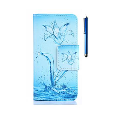 Voor Huawei hoesje / P8 Portemonnee / Kaarthouder / met standaard hoesje Volledige behuizing hoesje Bloem Hard PU-leer HuaweiHuawei P8 /