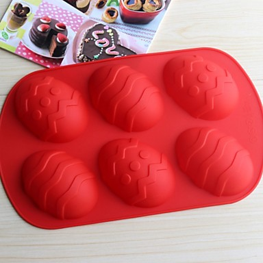 καλούπια bakeware ψήσιμο των αυγών σιλικόνης για κέικ σοκολάτας ζελέ (τυχαία χρώματα)