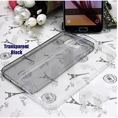 Voor Samsung Galaxy hoesje Transparant hoesje Achterkantje hoesje Effen kleur TPU Samsung S6 edge