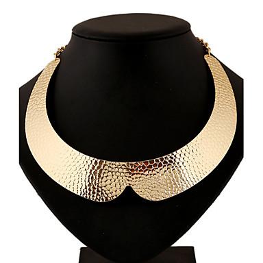 Γυναικεία Κολιέ με Αλυσίδα Κολιέ Δήλωση Κράμα Geometric Shape Euramerican Δήλωση Κοσμήματα Βοημία Style Πανκ Στυλ Χρυσό Ασημί Κοσμήματα
