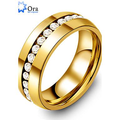 Heren Dames Statementringen Modieus Kostuum juwelen Goud Roestvast staal Sieraden Voor Feest