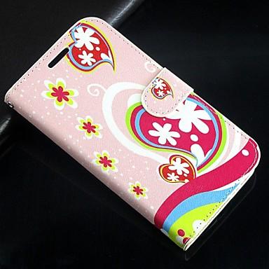 Недорогие Чехлы и кейсы для Galaxy S3 Mini-люблю цветы искусственная кожа всего тела бумажник защитный чехол с подставкой и слот для карт Samsung Galaxy S3 мини i8190n