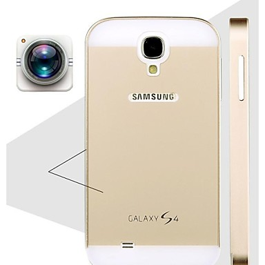 speciale ontwerp effen kleur metalen achterkant en bumper voor Samsung Galaxy S4 i9500