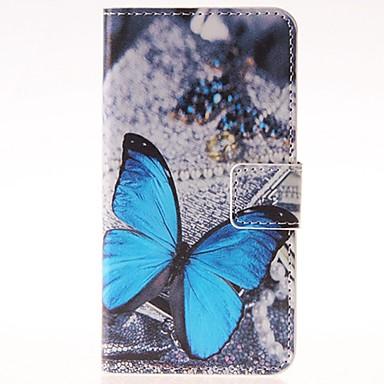 Voor Samsung Galaxy hoesje Kaarthouder / met standaard / Flip / Patroon hoesje Volledige behuizing hoesje Vlinder PU-leer SamsungGrand