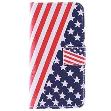 Para Samsung Galaxy Capinhas Porta-Cartão / Com Suporte / Flip / Estampada Capinha Corpo Inteiro Capinha Bandeira Couro PU Samsung S6 edge