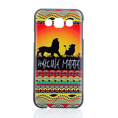 λιοντάρι PC μοτίβο σκληρό υπόθεση για το Samsung Galaxy e7