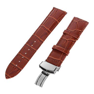Gerçek Deri Watch Band kayış için Siyah 213 2cm / 0.8 İnç