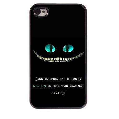 Iphone 4/4S/Iphone 4 - Achterkantje - Grafisch/Cartoon/Coole doodskoppen/Metallic/Speciaal ontwerp/Noviteit (Meerkleurig , Metaal/Abs)