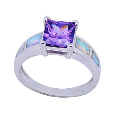 Feminino Maxi anel Fashion Pedras preciosas sintéticas Zircão Quadrada Forma Geométrica Jóias Casamento Festa Diário Casual Esportes