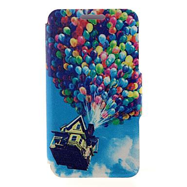 Недорогие Чехлы и кейсы для Galaxy A3-Кейс для Назначение SSamsung Galaxy A8 / A7 / A5 Бумажник для карт / со стендом / Флип Чехол Воздушные шары Кожа PU