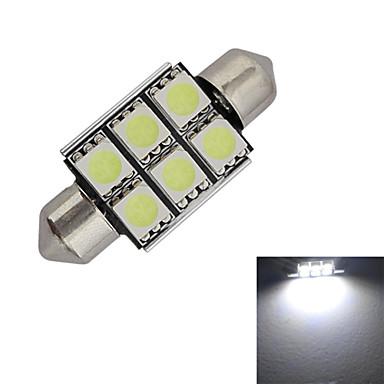 1.5W 100-150 lm Festoon 장식 조명 6 LED가 SMD 5050 차가운 화이트 DC 12