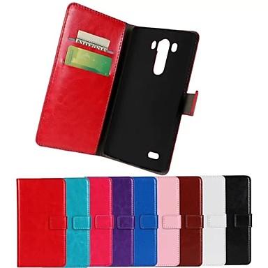 tok Για LG G3 LG Θήκη LG Θήκη καρτών Πορτοφόλι με βάση στήριξης Ανοιγόμενη Πλήρης Θήκη Συμπαγές Χρώμα Σκληρή PU δέρμα για