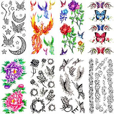 12 Non Toxic Μοτίβο Waterproof Σειρά Άνιμαλ Σειρά Λουλουδιών Άλλα Αυτοκόλλητα Τατουάζ