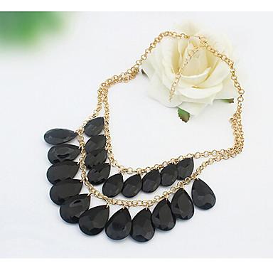 Dames Verklaring Kettingen Acryl Legering Kostuum juwelen Sieraden Voor Bruiloft Feest Dagelijks Causaal