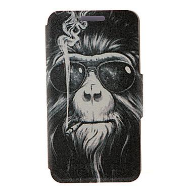 caso de corpo inteiro kinston® fumar padrão macaco de couro pu com suporte para lg l70