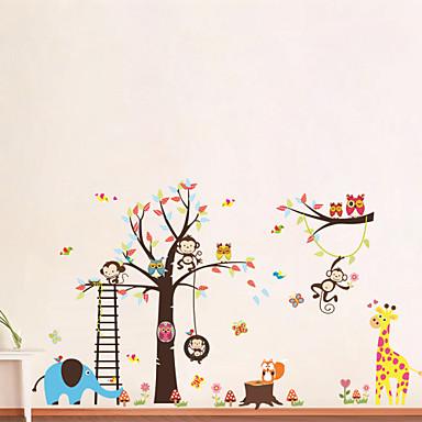 Hayvanlar Karton Duvar Etiketler Uçak Duvar Çıkartmaları Dekoratif Duvar Çıkartmaları, Vinil Ev dekorasyonu Duvar Çıkartması Duvar