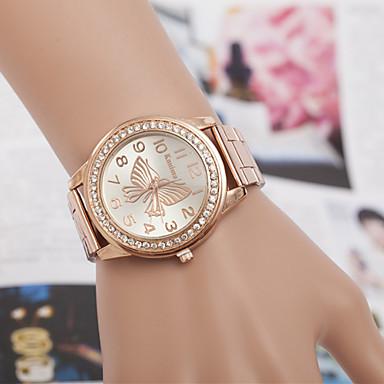 yoonheel Mulheres Simulado Diamante Relógio Relógio de Moda Quartzo imitação de diamante Metal Banda Prata Dourada Ouro Rose