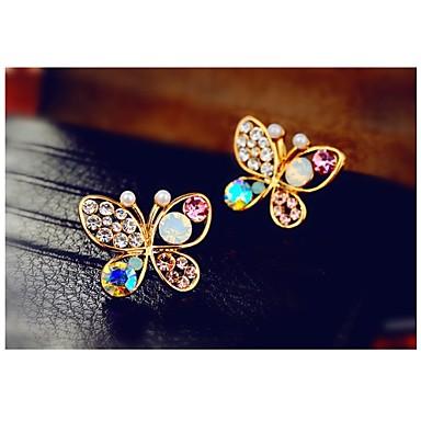 Γυναικεία Κουμπωτά Σκουλαρίκια Στρας Κράμα Κοσμήματα Γάμου Πάρτι Καθημερινά Causal Κοστούμια Κοσμήματα