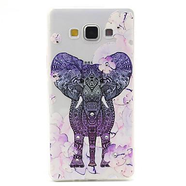 Voor Samsung Galaxy hoesje Transparant / Patroon hoesje Achterkantje hoesje Olifant TPU Samsung A7