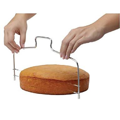 μόδα διπλή γραμμή ρυθμιζόμενο ανοξείδωτο χάλυβα εργαλείων κοπής μετάλλων τούρτα μούχλα συσκευή τεμαχιστή κέικ μαγείρεμα bakeware κουζίνα