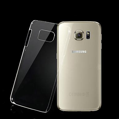 Voor Samsung Galaxy hoesje Transparant hoesje Achterkantje hoesje Effen kleur PC Samsung S6
