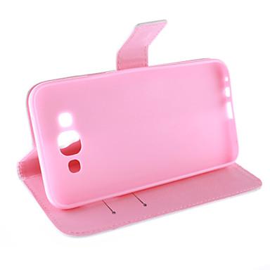 tok Για Samsung Galaxy Samsung Galaxy Θήκη Θήκη καρτών Πορτοφόλι με βάση στήριξης Ανοιγόμενη Με σχέδια Πλήρης Θήκη Φτερά PU δέρμα για E7