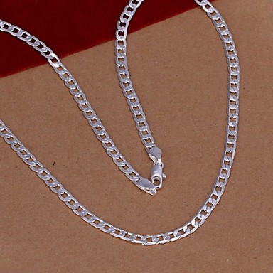 Chain Necklace  -  Silver Plated Fashion Silver Necklace For Wedding, Party, Daily