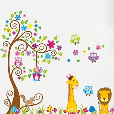 Hayvanlar Duvar Etiketler Uçak Duvar Çıkartmaları Dekoratif Duvar Çıkartmaları, Vinil Ev dekorasyonu Duvar Çıkartması Duvar