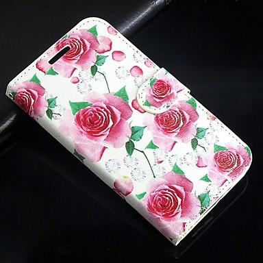 Недорогие Чехлы и кейсы для Galaxy S3 Mini-розовые розы искусственная кожа всего тела бумажник защитный чехол с подставкой и слот для карт Samsung Galaxy S3 мини i8190n